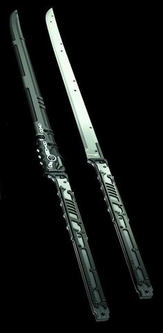 jinroh catana and combat knife. Passionate pursuit of drool worthy amazing gear. Ninja Weapons, Sci Fi Weapons, Weapon Concept Art, Fantasy Weapons, Weapons Guns, Cosplay Weapons, Swords And Daggers, Knives And Swords, Katana Swords