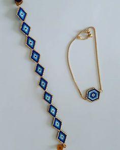 How do you think our Evil Eye bead bracelet model is .- Nazar boncuğu bileklik modelimiz nasıl sizce How do you think our evil eye bead bracelet model? # Nazarboncugum of design that # Miyokitak of - Bead Jewellery, Diy Jewelry, Handmade Jewelry, Jewelry Making, Unique Jewelry, Jewelry Design, Bead Loom Bracelets, Bracelet Crafts, Beaded Jewelry Patterns
