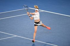 Genie bounced by CoCo - Australian Open Tennis Championships 2017 - Official Site by IBM Tennis Australia, Australian Open Tennis, Rod Laver Arena, Eugenie Bouchard, Tennis Championships, Things That Bounce, Running, Fitness, Sports