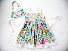 Girls 4T dress 4T outfit floral dress and by LizzyBethLane on Etsy
