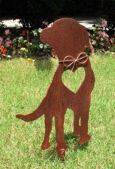 Chesapeake Bay Retriever Dog Metal Garden Stake - Metal Yard Art - Metal Garden Art - Pet Memorial