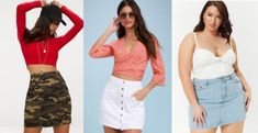 Class to Night Out: Camo Denim Skirt