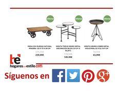 Locos por las #ofertas (y por las mesitas originales...) Vuestro sitio está en hogaresconestilo.com!!! #home #hogar #estilo #deco #decoración