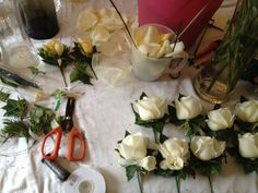 Hard at work on the buttonholes!