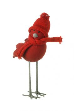 SCARF Christmas Bird Everyone loves a rockin' robin at Christmastime, and what better than one in stylish chunky knit? An irresistible festive ornament that will bring a smile to your face.