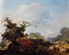 Jean-Honorè Fragonard, Annnette e Lubin, o Annette a vent'anni, 1761-65, olio su tela, 37 x 46 cm, Galleria Nazionale d'Arte Antica a Roma.