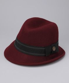 Take a look at this Maroon Wilma Wool Fedora by Goorin Bros. on #zulily today!