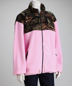 Trail Crest Camo Fleece Jacket and Pants Set Toddler Pink Highland Timber