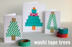 DIY Washi Tape Trees @MakeandTakes.com.com