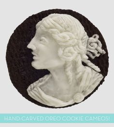 Oreo Art: Hand-Carved Cookie Cameos!