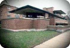 Frank Lloyd Wright. Robie House. Chicago, EEUU. 1908.