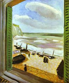 """Janela Aberta"", óleo por Henri Matisse (1869-1954, France)"