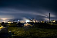 Steel Works at night, Port Talbot, Wales