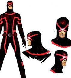 Cyclops design by Chris Bachalo. - Design from the latest run of Uncanny X-Men from Brian Michael Bendis and varying artists. Comic Book Artists, Comic Book Characters, Marvel Characters, Comic Artist, Comic Character, Comic Books Art, Character Design, Marvel Comics, Marvel Now