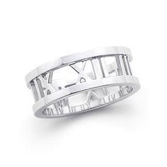 Atlas® open ring in 18k white gold.