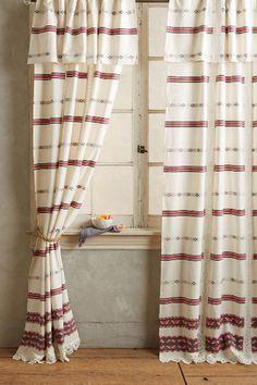 Folkthread Curtain Overhang - anthropologie.com Spare rooooom!!!!