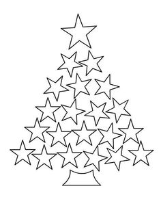 Star Christmas Tree colouring page Preschool Christmas, Christmas Crafts For Kids, Christmas Activities, Christmas Printables, Christmas Colors, Christmas Projects, Winter Christmas, Kids Christmas, Holiday Crafts