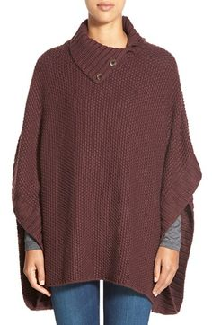 Caslon® Split Turtleneck Poncho available at #Nordstrom -- not a pattern but I like the style