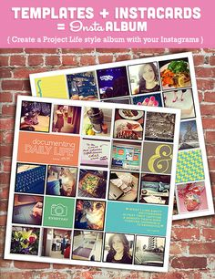 Create a Project Life Style Album with your Instagrams #lifeinpictures #projectlife #instagram