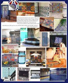 Bristol Kitchen Bathroom Backsplash Tile Wall Stair Floor | Etsy Tile Decals, Wall Tiles, Vinyl Decals, Wall Decal, Vinyl Rug, Tile Art, Peel And Stick Tile, Stick On Tiles, Stair Stickers