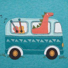 Buy John Lewis Dinosaur Band Long Sleeve T-Shirt, Blue, 0-3 months Online at johnlewis.com
