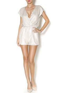 WINTER WHITE SEQUIN ROMPER
