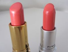 MAC Vegas Volt/Revlon Coralberry Makeup Lovers Unite! This beauty blog shows affordable duplicates of expensive cosmetics.