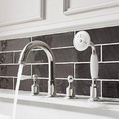 four tap hole bath tap