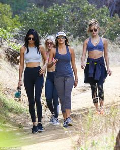 Working out: Kendall shook off her Monday night birthday party by starting Tuesday with a ...