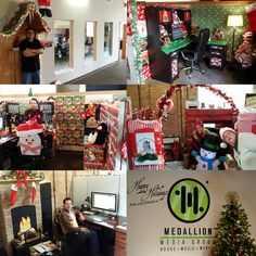The Great Medallion Christmas office decorating contest is among us! Here are some of our favorites from last year. We can't wait to see what everyone has in store this year #TisTheSeason   #MedallionMediaGroup   #MedallionPress   #Holiday  #Decor   #OfficeParty