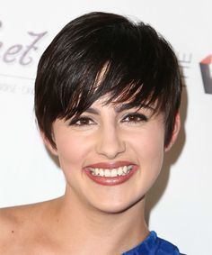 Jacqueline Toboni Hairstyle - Short Straight Casual. Click to try on this hairstyle and view hair info and styling steps!