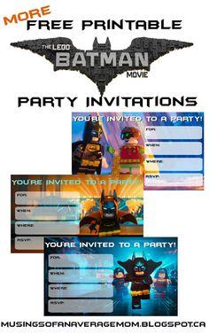 Free Printable Invitations More Free Printable Batman Lego Invitations Lego Batman Banner from Daisy Celebrates . Lego Batman Birthday, Lego Batman Party, Lego Birthday Party, Superhero Party, Batman Batman, Batman Cakes, Birthday Cakes, Batman Free, Birthday Ideas