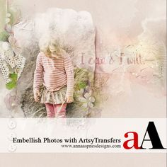 Today, Creative Team Member, Ulla-May, is sharing her Embellish Photos with ArtsyTransfers tutorial conducted in Adobe Photoshop. Note that this tutorial can also be conducted in versions of Adobe Photoshop Elements. Embellish Photos with ArtsyTransfers 1. Create a foundation. Create a new 12