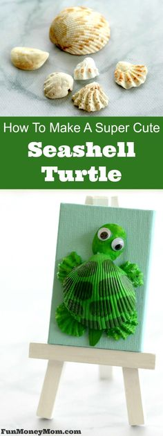 Want a cute summer craft that'll keep the kids entertained? Grab some seashells, paint and glue and make this adorable seashell turtle craft. It's fun for kids but fun for mommy too!