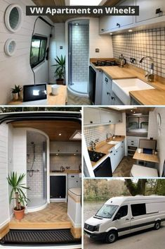 Van Conversion Interior, Camper Van Conversion Diy, Van Interior, Van Conversion Office, Motorhome Interior, Van Living, Tiny House Living, Kombi Home, Caravan Home