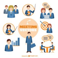Business people meeting vector