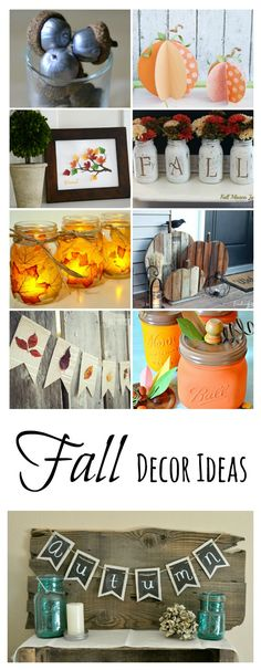 Inexpensive Fall Decorating Ideas - I love to bring the colors of the outdoors inside.  Use one or more of these DIY Tutorials to make your own fall decor.