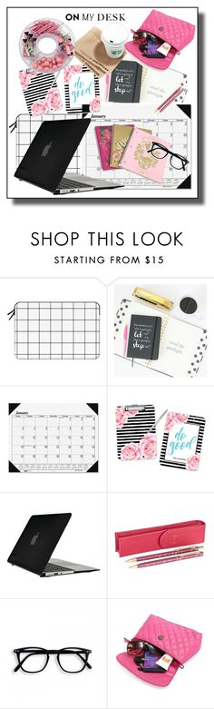 """""""Fashionable mess on my desk...#desktop #laptop #aceasories #polyvore"""" by fashionlibra84 ❤ liked on Polyvore featuring interior, interiors, interior design, home, home decor, interior decorating, Casetify, House of Doolittle, Speck and Harrods"""
