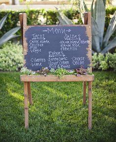"""Wedding reception food - the taco bar """" alexan events denver wedding p Taco Bar Wedding, Diy Wedding Reception Food, Wedding Signage, Wedding Menu, Our Wedding, Wedding Decorations, Wedding Ideas, Menu Signage, Trendy Wedding"""
