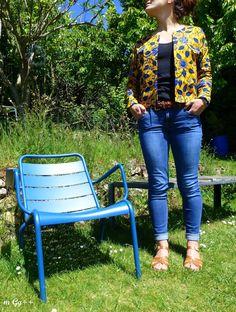 """Une """"Veste Monet"""" en Wax... (Patron : """"Veste Monet"""" de chez Les Patronnes) par m Gg++"""