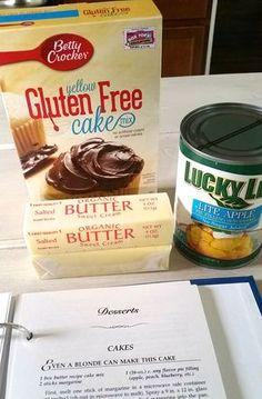 3-ingredient, gluten-free dessert featuring Betty Crocker Gluten Free Yellow Cake Mix.