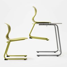 Called Pro, this chair was originally designed for schools according to research recommending classroom seating that encourages movement.