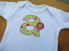 Girls Clothes - Personalized Monogram - Baby Bodysuit - Initial Onesie - Shower Gift - Baby Clothes - Baby Girl on Etsy, $10.00