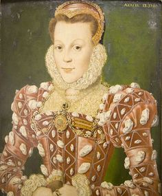 Portrait of Mary (Browne) Wriothesley, Countess of Southampton, aged about 13, at the time of her marriage, 1565   http://www.pinterest.com/pin/138837600987399435/