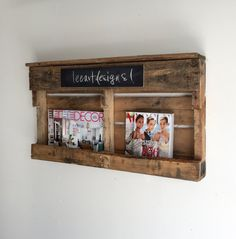Handmade Pallet Wine Rack, Magazine Rack, Rustic, Decor, Book Shelf, Reclaimed…
