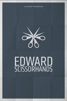 Edward Scissorhands (1990) ~ Minimal Movie Poster by Pedro Vidotto #amusementphile