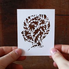 personalized botanical silhouette