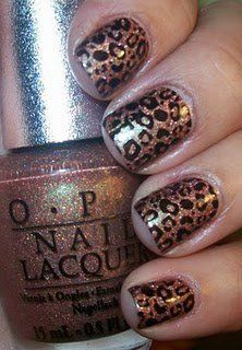 OPI gold leopard print nails ♥
