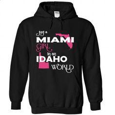 Miami-Idaho FLORIDA - #sweatshirts #funny t shirts for men. GET YOURS => https://www.sunfrog.com//Miami-Idaho-FLORIDA-5476-Black-Hoodie.html?60505
