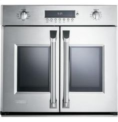 "ZET1FHSS in Stainless Steel by GE Appliances in Lawrence Township, NJ - Monogram 30"" Professional French-Door Electronic Convection Single Wall Oven"